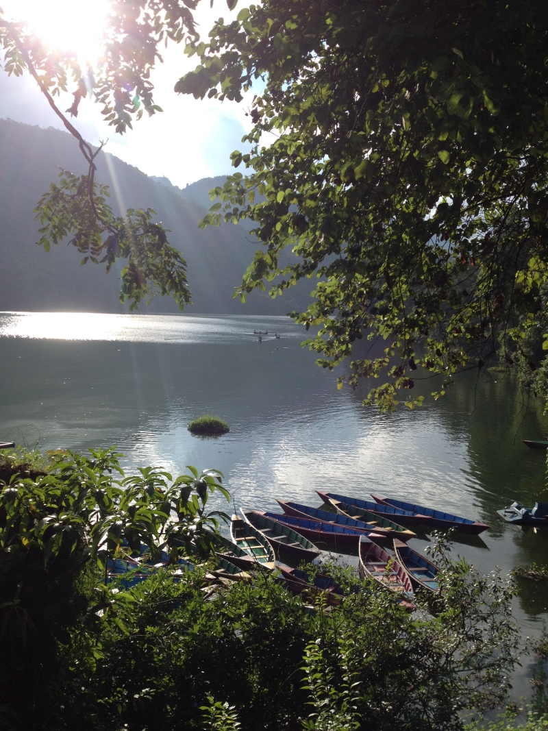Adventure holiday in Nepal lake