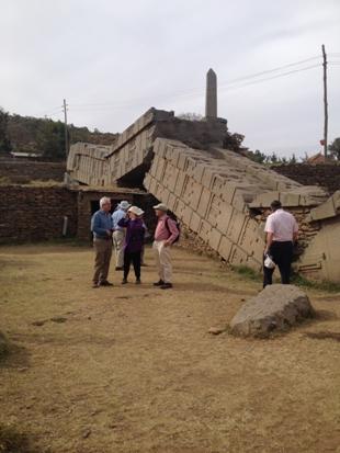 The fallen 33m stele, Axum