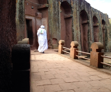 A monolithic 11the century church from Lalibela's second cluster