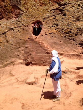 Making our way through the pathways and tunnels between Lalibela's churches
