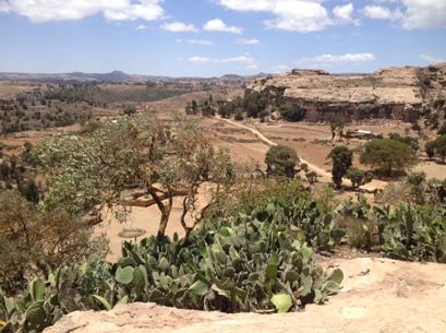 View of Tigrai from Michael Imba Rock