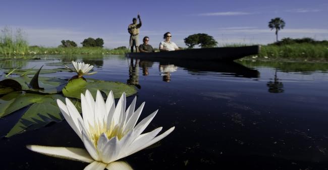 Botswana boat safari. Img credit: Wilderness Safaris.