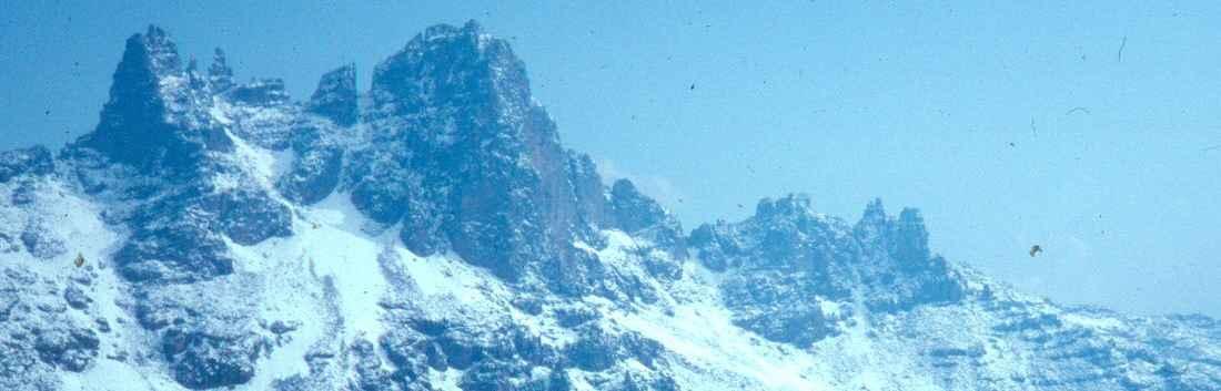Mt Kenya snowy peaks