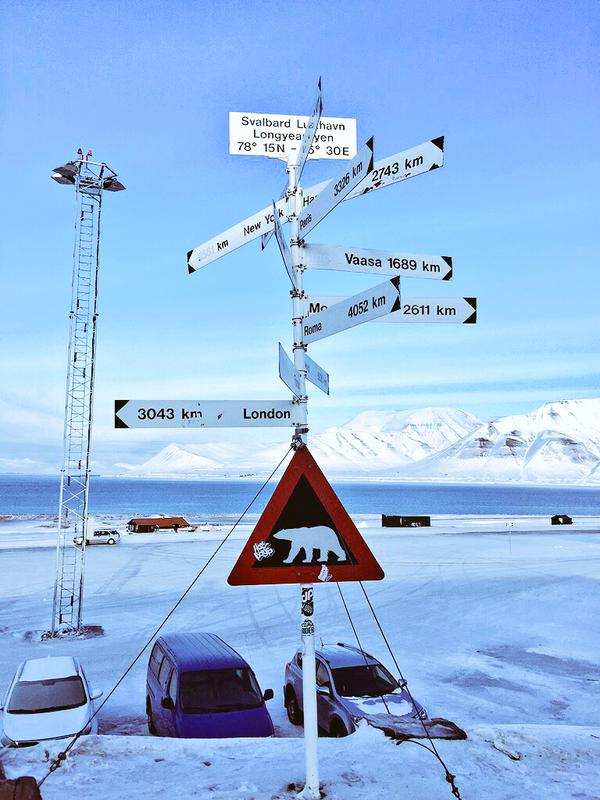 North Pole Expedition Sign
