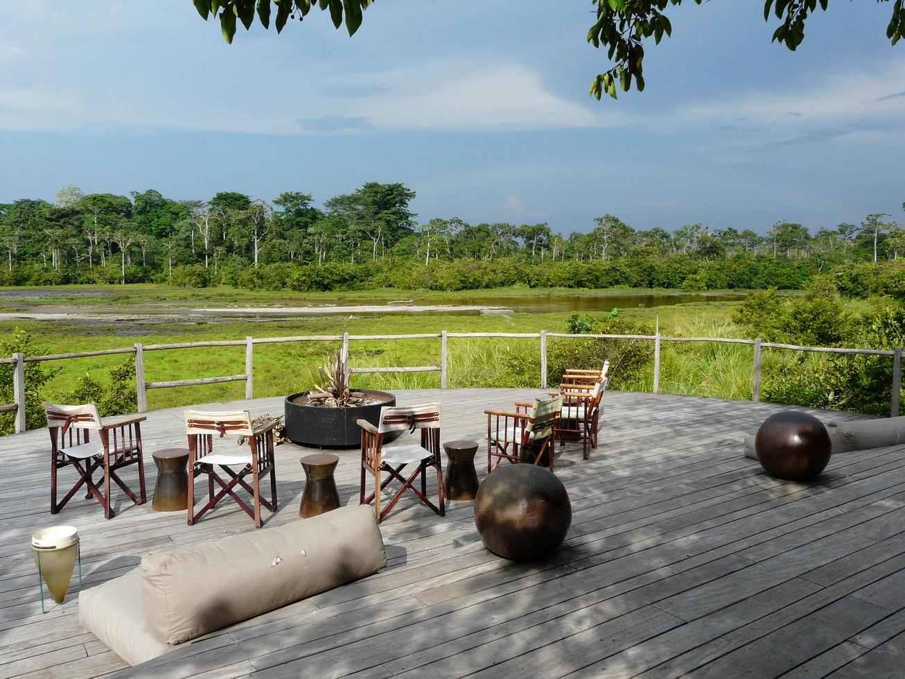 Viewing deck at Ngaga Camp, Odzala-Kokoua National Park