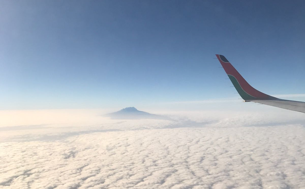 Flying over Kilimanjaro