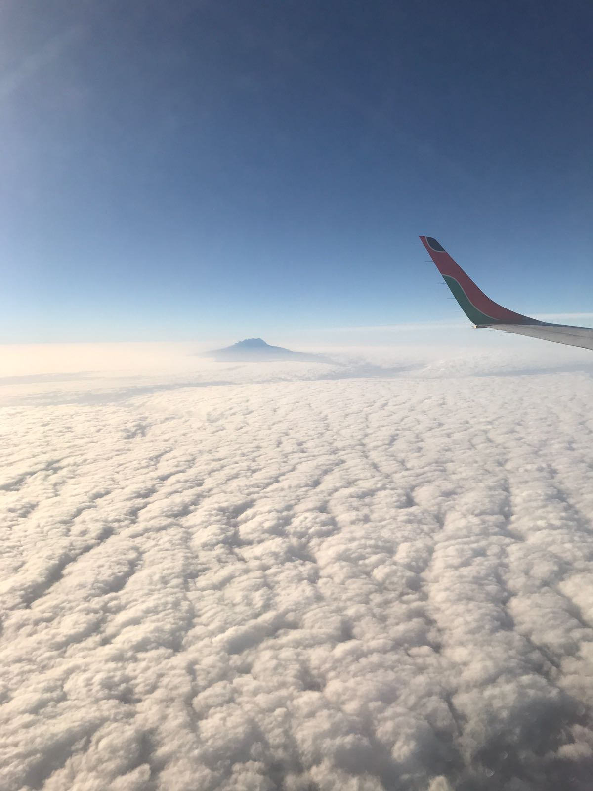 Kilimanjaro aerial view