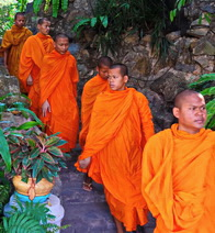Buddhist monks in Phnom Penh, Cambodia