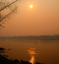 Sunset over the Mekong, Laos
