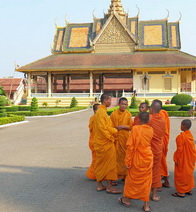 Cambodia Monks at Phnom Penh Palace