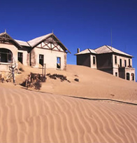 The ghost town of Kolmanskop